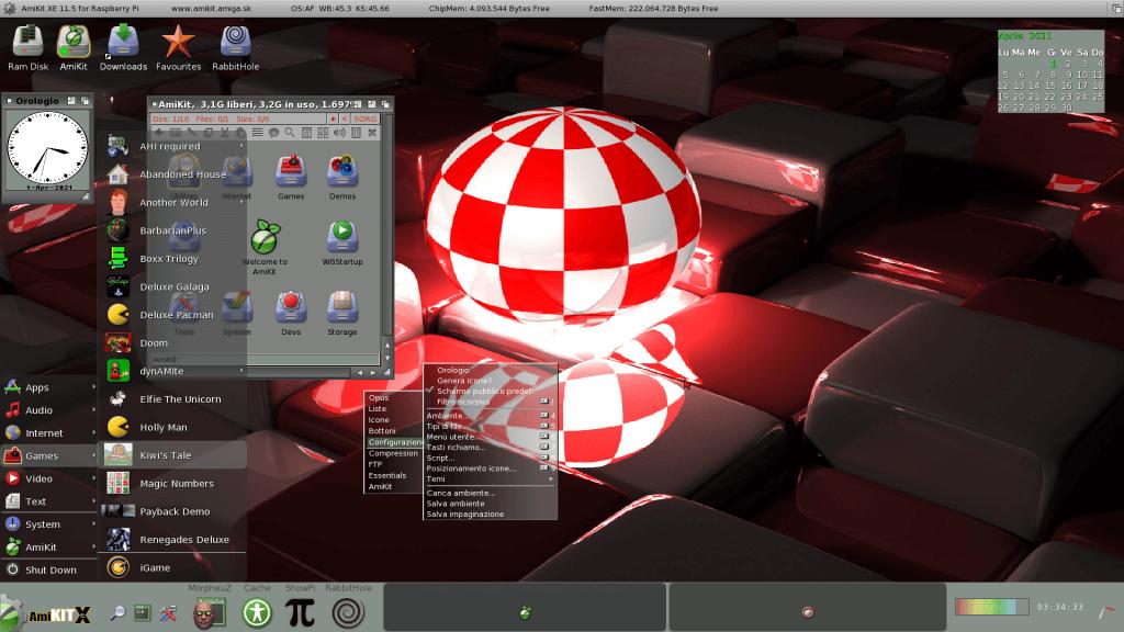 AmigaOS desktop