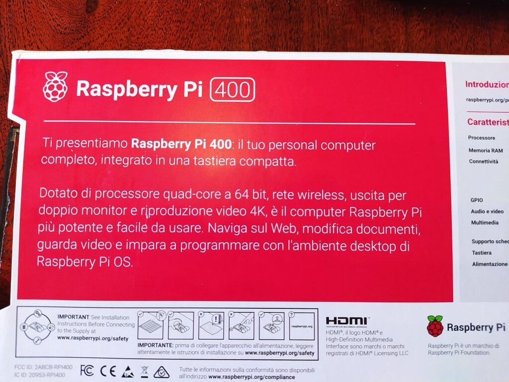 Pi400 scatola italiano